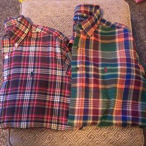 Two Ralph Lauren Button Down Shirts